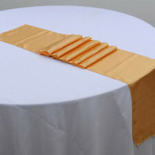 """13 Colors 12""""*108"""" Satin Table Runner Wedding Party Decorations 30 x 275cm HG"""