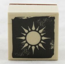 Sun Wood Mounted Rubber Stamp Hero Arts NEW sky solar celestial space art shine