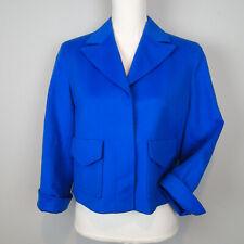 new $1,390 AKRIS Wool Jacket Blazer Coat Top 8 US blue r7