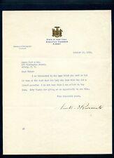1929 President Franklin D. Roosevelt Autographed Signed Typed Letter FDR JSA LOA