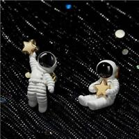 Funny Gold Star Astronaut Earring Asymmetric Studs Earrings Novelty Gift Q