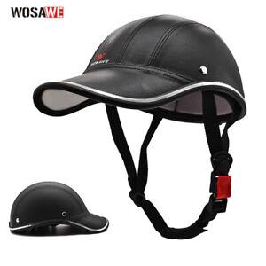 New German Style Motorcycle Half Helmet Open Face Cruiser Baseball Hat Skull Cap
