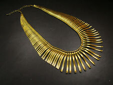 N3126 Tribal Ethnic Brass tone Gypsy Fashion Bohemian Jewelry Collar Necklace