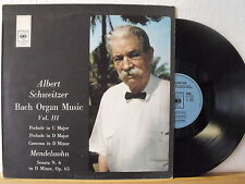 "12"" LP - ALBERT SCHWEITZER - Volume III - Bach Organ Music - CBS 1972"