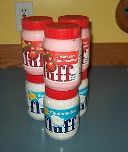 Marshmallow  Fluff  71/2oz. jar (X3) STRAWBERRY & (X3) WHITE