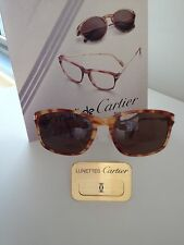 CARTIER SUNGLASSES Jaspe Tigre Roux 56/18-140 Authentic NEW IN BOX SALE