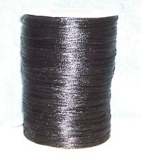 "50 FEET OF BLACK 1/8"" (2mm) SATIN NECKLACE CORD ONLY $0.10 A FOOT"