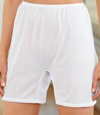 3 Pair Size 12 Long Leg Nylon Tricot No Cotton Crotch Panty USA Made