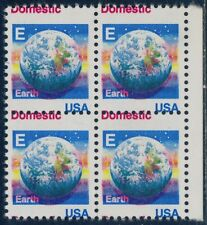 "#2277 Var. ""Earth"" Block Of 4 Major Color & Perf Shift Major Errors Bq8689"