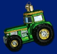 Tractor Ornament Green Glass Old World Christmas 46006 6
