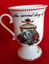 12 Days of Christmas Footed Cup Domestications Pedestal Mug 2-12 Replacements