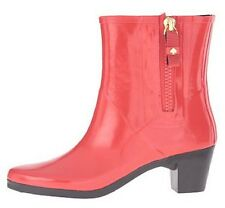Women's Shoes Kate Spade New York PENNY Short Rain Boots Rubber Red