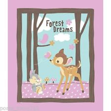 PERSONALIZE DISNEY BAMBI THUMPER FOREST DREAMS PINK CRIB TODDLER BLANKET QUILT