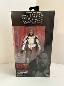 "Star Wars Black Series 6"" CLONE COMMANDER OBI WAN KENOBI NIB (Exclusive) Hasbro"