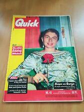 QUICK  / Nr.45 / 1956  Zeitschrift / Illustrierte /Nostalgie