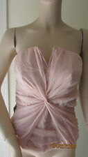 NWT BEBE TWIST FRONT NOTCHED BUSTIER TOP SIZE M
