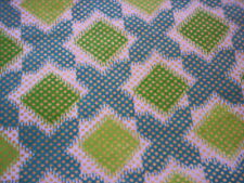 London wax geometric fabric/Gold and green Cotton fabric/Apparel & Fashion/craft