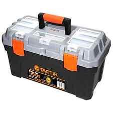 Tactix TOOL BOX w/ Built-in Compartments & Transparent Lid for Small Tools 507mm