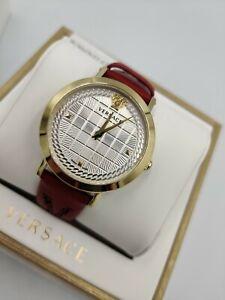 Versace Medusa Chain Swiss Luxury Women's Watch VELV00320 Red Band 1Yr Warranty