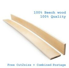 Replacement 53 mm Beech Wood Bed Base Frame Sprung Curved Custom Slats A Quality
