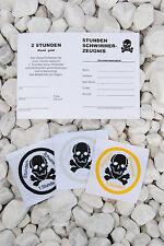 1x 1h, 1 1/2h, 2h Totenkopf  + Urkunde, Schwimmabzeichen Abzeichen Pirat Stunde