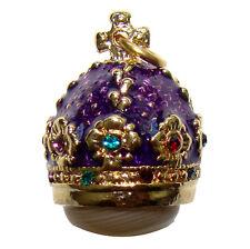 Couronne impériale russe Pendentif Oeuf style Fabergé Pendentif Couronne citrine