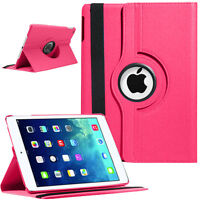DARK HOT PINK iPad Case Cover Shockproof Smart Leather Rotating Stand