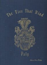 HISTORY OF THE PALY PALLY PAULEY PALLI FAMILY CREST BOOK RARE LOCAL MINNESOTA