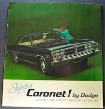 1966 Dodge Coronet Catalog Brochure 500 440 Wagon Excellent Original 66 Canadian