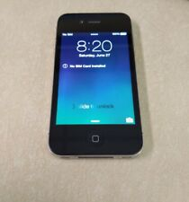 Apple iPhone 4 - 16GB - Black.  Tested/working, AT&T, Cricket, Red Pocket