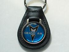 Pontiac Grand AM Keychain, Leather Keychain Key Fob