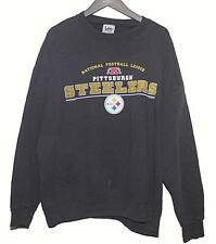 Lee Sport Mens Size XL Black Pullover Sweater Pittsburg Steelers Logo