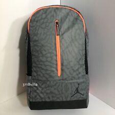 Nike Air Jordan Jumpman Backpack Laptop School Travel Bag - Gray Elephant Print