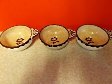 Gustavsberg Swedish Studio Pottery -  Pyro Handled Bowls - Wilhelm Kage Design