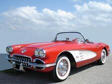 1 Vette Corvette Chevy 1950s Sport Car 43 Vintage 24 Metal 18 Carousel Red 12