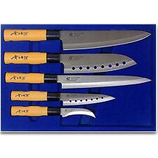 Stainless Steel 5 Knife SET Japanese Chef Sashimi Sushi CutleryHome Chef Kitchen