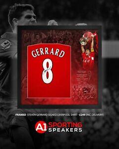 Steven Gerrard 2005 Champions League Back Framed Signed Shirt COA £249 Delivered