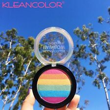 KleanColor Rainbow Highlighter Palette Iridescent Glow