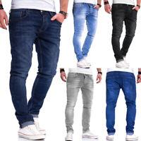 Behype Herren Jeans Hose Slim Fit Röhrenjeans Washed Blau/Grau/Schwarz NEU