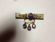 Vintage Victorian California Jewelry Pin Brooch jewels Red White and Blue Stones