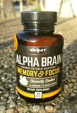 Onnit Alpha Brain Memory & Focus 30 Caps - Safety Sealed - Fresh Guaranteed