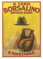 Y2851 Il vero BORSALINO è inimitabile - Pubblicità del 1923 - Old advertising