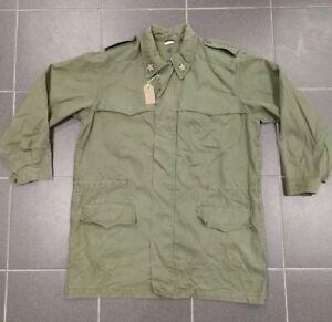 Vintage Italian Army Olive Green Lightweight Parka Combat Field Jacket Overcoat