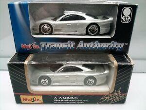 Maisto / Mercedes Benz CLK GTR - Street Version - Silver - Model Cars x2