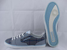 Supremebeing Slab Check Sneaker grey-baby blue EU 42 UK 8