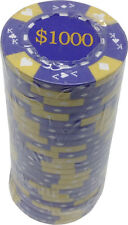 Poker Chips (25) $1,000 Tri-Gold 14 g Clay Composite FREE SHIPPING *