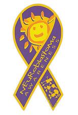 Magnetic Bumper Sticker - Neuroblastoma Awareness - Ribbon Shaped Support Magnet