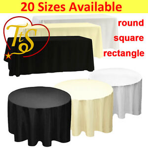 1 5 10 WHITE BLACK IVORY POLYESTER TABLECLOTH TABLE CLOTH COVER CHRISTMAS PARTY