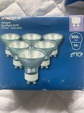 48 Homebase GU10 50W MAINS 240V DIMMABLE HALOGEN LAMP LIGHT BULBS PLUS 20 Free