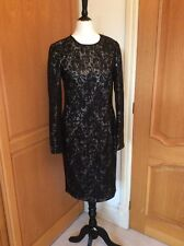 NEW.   LINEA   AT HOUSE OF FRASER.  LITTLE BLACK DRESS   BODYCON  SIZE 10 SEQUIN